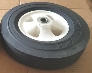 New 10 X 2 75 Hard Rubber Flat Free Wheel Assembly Lot Of 10