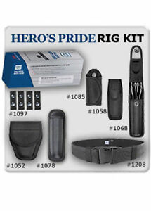 Hp Complete Pro Police Security Nylon Duty Rig Belt Kit Handcuff Case Keepers Md