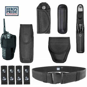 Complete Police Security Nylon Duty Rig Belt Kit Handcuff Radio Case Kee