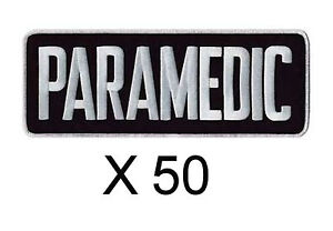 Bulk Lot 50 Emt Ems White Midnight Dark Navy Paramedic Uniform Jacket Back Patch
