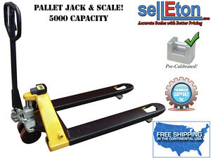 Pallet Jack With Scale System 5 000 Lbs Capacity For Warehouse