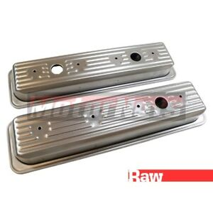 87 up Sbc Small Block Chevy Raw Unplated Center Bolt Valve Cover 305 350 5 0 5 7