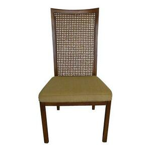 Single Walnut Caned Back Drexel Heritage Dining Chair