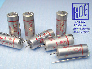 47uf 63v Roe Eb series Early Product Audio Grade X 100 Pieces