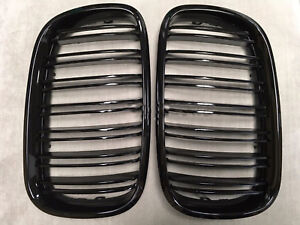X5m Style Piano Gloss Black Front Hood Grilles Grille 07 13 For Bmw E70 X5