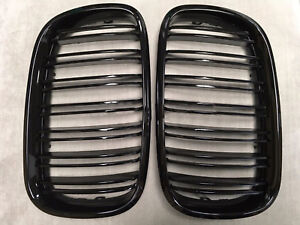 X6m Style Piano Gloss Black Front Hood Grilles Grille 08 14 For Bmw E71 X6