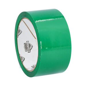 Green Color Carton Sealing Packing Tape Heavy Duty 2 0 Mil 2 X 110 Yds 72 Rolls