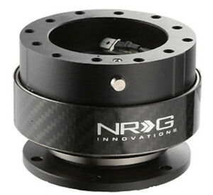 Nrg Steering Wheel Quick Release Kit Gen 2 0 Black Body Carbon Fiber Ring