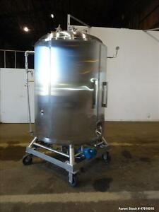 Used Precision Stainless Reactor 600 Gallon 316l Stainless Steel Vertical A
