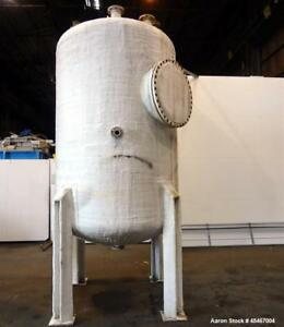 Used Steel pro Pressure Tank 1850 Gallons 304l Stainless Steel Vertical 72