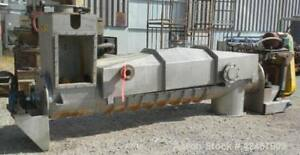 Used Continental Conveyor Machine Works Dewatering Screw Conveyor 304 Stainl