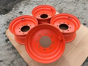 4 new 16 5x8 25x8 Skid Steer Wheel rim For Bobcat 742 743 751 753 763 773