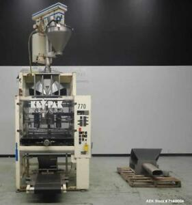 Used Key Pack Model V400s Vertical Form Fill Seal Machine Machine Has A Bag Si