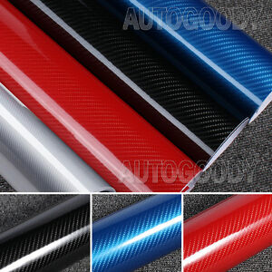 5d Premium High Gloss Carbon Fiber Vinyl Film Wrap Bubble Free Air Release 6d