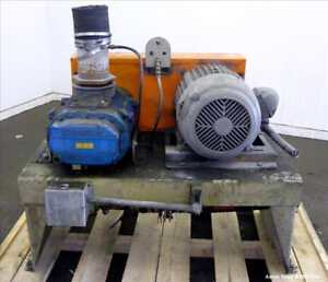 Used Schwitzer Horizontal Rotary Positive Displacement Blower Size 4 5x12 vt