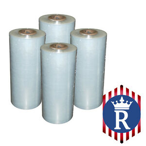 4 Rolls Hand Stretch Film Pallet Wrap 18 X 1500 Ft 80g