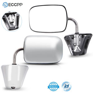 Chrome Manual Side View Mirrors Lh Rh Pair Set For 1973 86 Chevy Gmc Truck