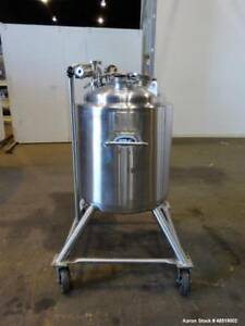 Used T C Pressure Tank 39 Gallon 150 Liter 316 Stainless Steel Vertical