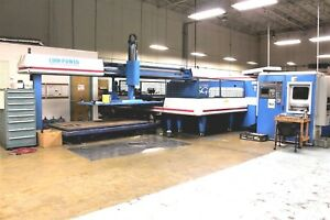 Turret Punching Punch Press Finn Power Lots Of Tooling Right Angle Shear Tp4025