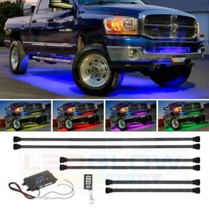 Ledglow 6pc Million Color Wireless Led Truck Underbody Underglow Neon Light Kit