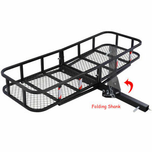 Goplus Folding Cargo Carrier Luggage Rack Hauler Truck Or Car Hitch 2 Receiver