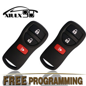 2 New Replacement Keyless Entry Remote Key Fob For Nissan Frontier Titan Xterra