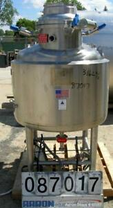 Used Precision Stainless Reactor 500 Liter 132 Gallon 316l Stainless Steel