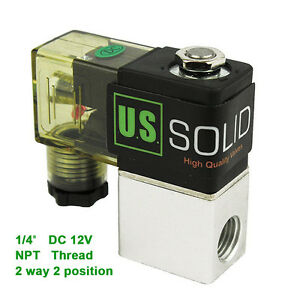 U s Solid 1 4 Pneumatic Electric Solenoid Valve 2 Way 2 Position Dc 12v Air
