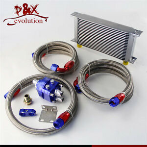 19row An10 Universal Oil Cooler M20 P1 5 Filter Relocation Adapter Hose Kit Bl