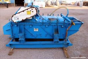 Used Smico Rectangular Vibratory Screener Carbon Steel Approximately 40 Wide