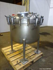 Used Precision Stainless Agitated Pressure Tank 400 Liter 105 66 Gallon 316