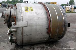 Used Tank 975 Gallon 316 Stainless Steel Vertical Approximate 66 Diameter