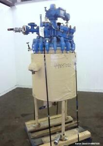 Used Pfaudler Clamp Top Glass Lined Reactor 30 Gallon 9115 Blue Glass Vertic