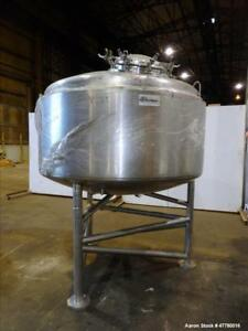Used Dci Reactor 2000 Liter 528 Gallon 316l Stainless Steel Vertical 72
