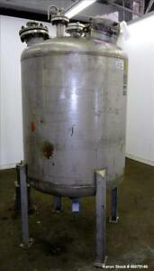 Used Tank 275 Gallon 316 Stainless Steel Vertical Approximate 42 Diameter