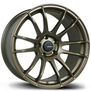 Avid1 Av20 Rims 17x9 35 5x114 3 Full Matte Bronze Concave Squared set Of 4