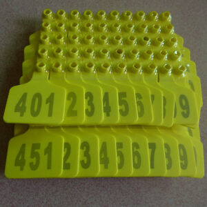 001 1000 Number Animal Cattle Use Ear Tag Livestock Tags Labels Cattle Special