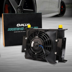 Fit For 30 Row Universal Engine Transmission Oil Cooler 7 Electric Fan Kit