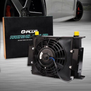 30 Row Universal Engine Transmission 10an Oil Cooler 7 Electric Fan Kit