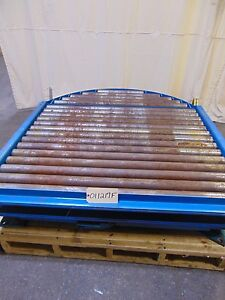 Hytrol Gravity Roller Conveyor With Hand Brake And Rotating 360 Deg