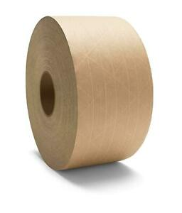 Reinforced Brown Kraft Gummed Paper Tape 100 Rolls Heavy Grade 3 X 450 Ft