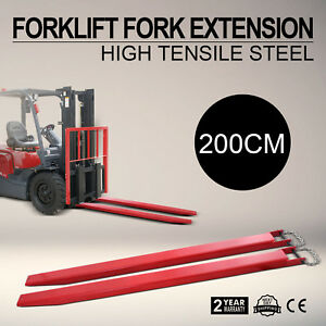 82x4 9 Forklift Pallet Fork Extensions Pair Lift Truck Fit 4width Retaining