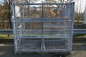 Lockable 3 panel Side Iron Steel Metal Shipping Storage Containers