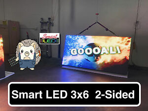 new P10 double side 3ft x 6ft full color programmable led digital sign outdoor