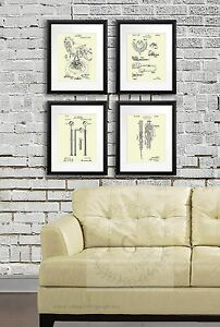 Dental Office Wall Decor Set Of 4 Cream Colored Dentistry Patents Dentist Gift