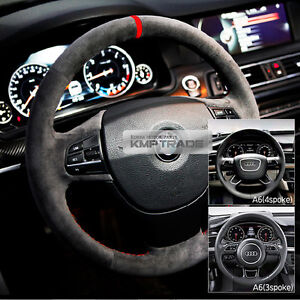 Alcantara D I Y Steering Wheel Handle Cover Needle And Thread For Audi 10 16 A6