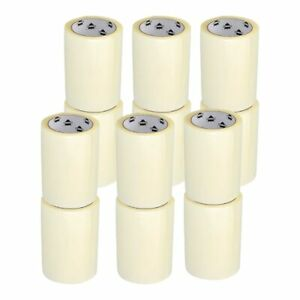 12 Rolls Clear Carton Sealing Packing Tape Box Shipping 6 Inch X 72 Yards