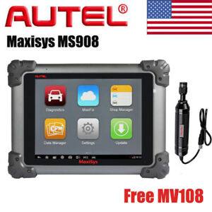 Autel Maxisys Ms908 Obd Diagnostic Automotive Scanner Tool Free Maxivideo Mv108
