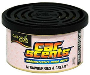 California Car Scents Strawberries Cream Air Freshener Can Lasts Upto 60 Days