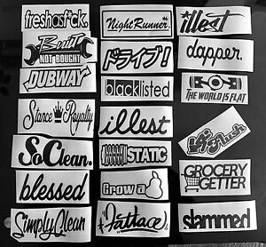 Jdm Mega Sticker Pack Stance 20 Low Vinyl Decals Stickers You Choose Color